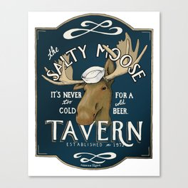 The Salty Moose Canvas Print