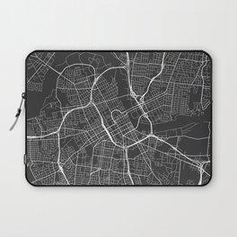 Nashville Map, USA - Gray Laptop Sleeve