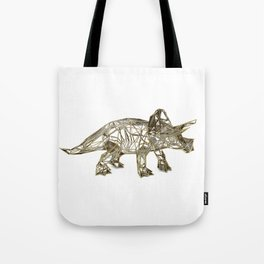 GOLD TRICERATOPS Tote Bag