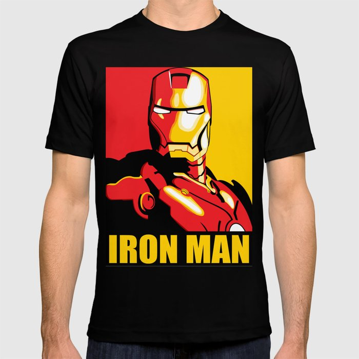 Iron man t shirt by crhodes23 society6 for Iron man shirt for men