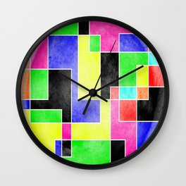Colour Pieces Wall Clock