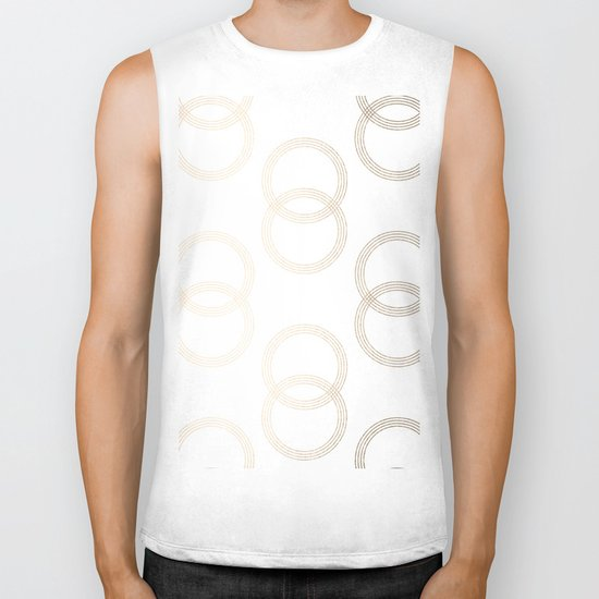 Simply Infinity Link in White Gold Sands on White Biker Tank