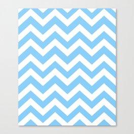 Light sky blue - turquoise color - Zigzag Chevron Pattern Canvas Print