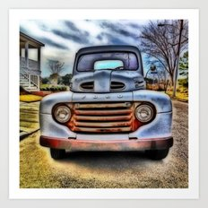 Old Ford Pickup Truck Art Print