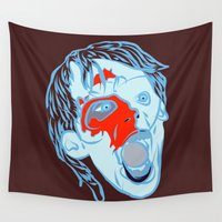 zombie Wall Tapestries featuring Zombie by Jessica Slater Design & Illustration