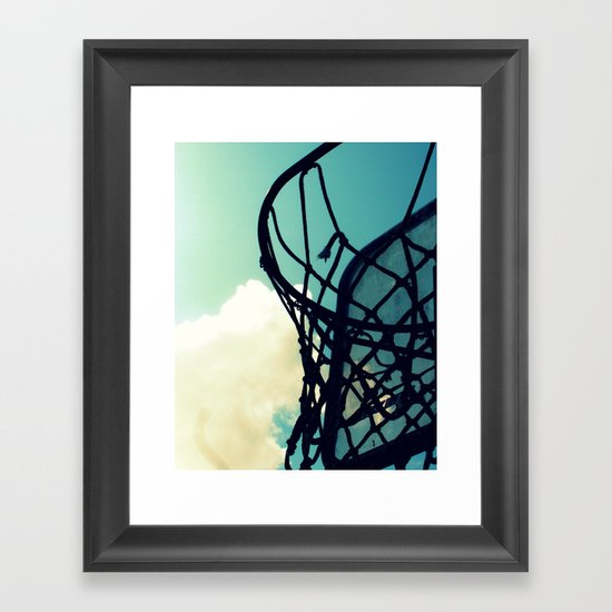 Basketball Hoop Framed Art Print