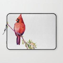 Cardinal Bird Vintage Style Red Cardinal design Laptop Sleeve