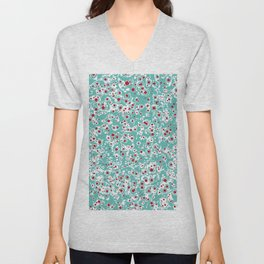 red wild dots Unisex V-Neck