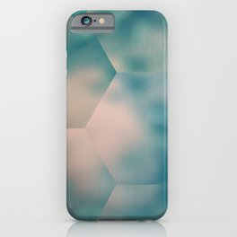 Abstract blue green mosaic picture. Computer generated image iPhone Case