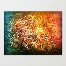 Windblown Cherry Blossom Canvas Print