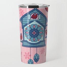 Cuckoo Time blue Travel Mug