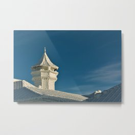Frozen Castle Turret - Siberian Winter Photograph Metal Print
