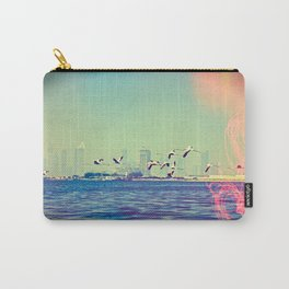 Flamingo Hearts Carry-All Pouch