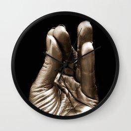 Silver hand 2 Wall Clock