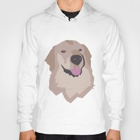 golden retriever Hoodies featuring Tyson the Golden Retriever by BulanLifestyle