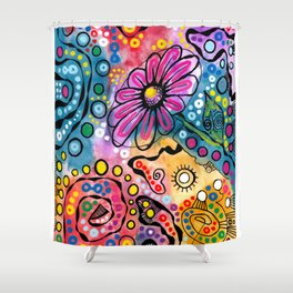 """Tie-Dye Wonderland"" Shower Curtain"
