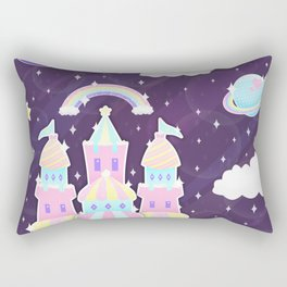 Dreamy Cute Space Castle Rectangular Pillow