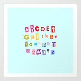 ABC Rainbow Art Print