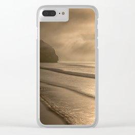 And so it Begins sunrise at Avila Beach California Clear iPhone Case