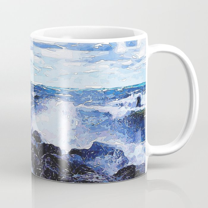 Lake Michigan Waves Coffee Mug