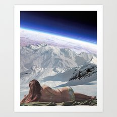 Space bathing Art Print