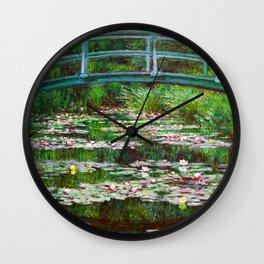Claude Monet - The Japanese Footbridge Wall Clock