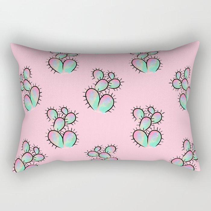 Pop Cactus Pattern Rectangular Pillow