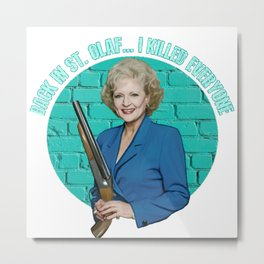 Golden Girls- Betty White Metal Print
