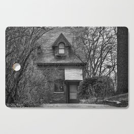 The Carriage House In Black And White Cutting Board