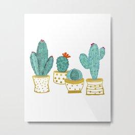 Cactus Garden || #society6artprint #decor Metal Print