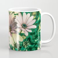 pushing daisies Mugs featuring Daisies by Loredana