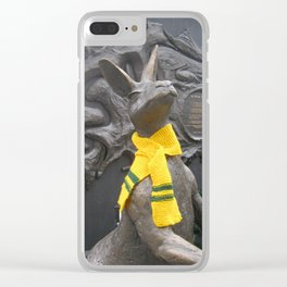 Aussie scarf on roo in King George Square Clear iPhone Case