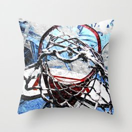 Basketball art swoosh 54: basketball artist-takumipark Throw Pillow