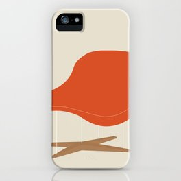 Orange La Chaise Chair by Charles & Ray Eames iPhone Case