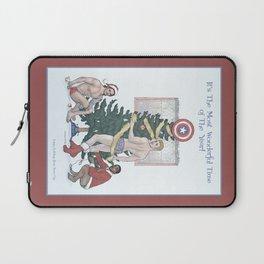 Team Cap Nice Pinup Holiday Card Laptop Sleeve