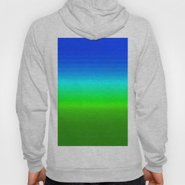 Blue Sky Green Grass Deconstructed (blue to green ombre gradient) Hoody