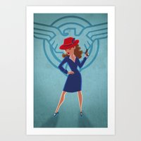 peggy carter Art Prints featuring Agent Peggy Carter by Terry Blas