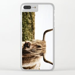 Highland Cow - color Clear iPhone Case