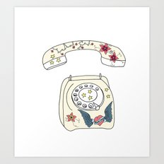 Phone love Art Print