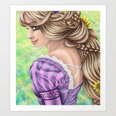 Rapunzel Portrait Art Print