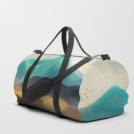 Green Wild Mountainside Duffle Bag