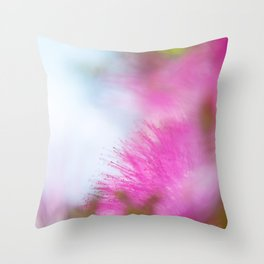Full pink dream Throw Pillow