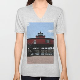 Seven Foot Knoll Lighthouse Unisex V-Neck