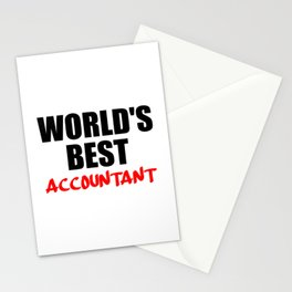 worlds best accountant Stationery Cards