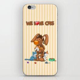 Rabbit catlover iPhone Skin