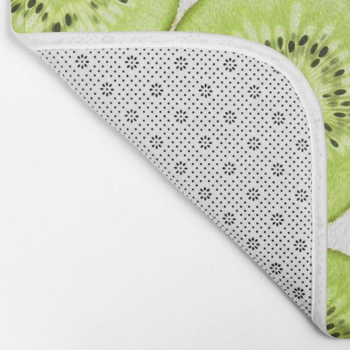 Kiwi Pattern Bath Mat
