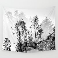 woodland Wall Tapestries featuring Woodland by Schwebewesen • Romina Lutz