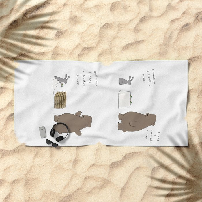 Backup Dinner Beach Towel