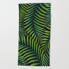 Palm leaves VII Beach Towel