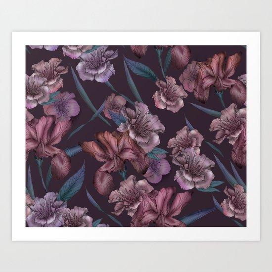 Hand-Drawn Bohemian Floral  Art Print